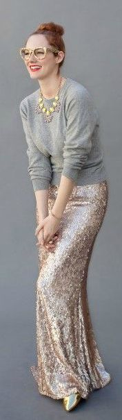 Rose Gold Sequin Maxi I'm not a sparkles and glitter person but this is so fab