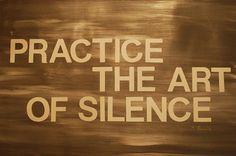 El valor del silencio
