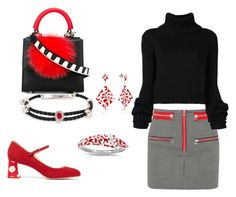 """I LOve Red White and Black"" by cynthiahawthorne ❤ liked on Polyvore featuring Isabel Marant, Belle Etoile, Sophia Webster, Alexander McQueen, Les Petits Joueurs and IO Ivana Omazić"