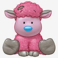 Carte Blanche - My Blue Nose Friends - Frizzie the Lamb Tatty Teddy, Illustration Mignonne, Cute Illustration, Nici Teddy, Cute Images, Cute Pictures, Baby Animals, Cute Animals, Cute Clipart
