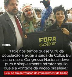 Se Dilma fosse Collor, Lula estava pró-impeachment faz tempo. Mas hoje está trancado num hotel caríssimo em Brasília recebendo deputados na surdina tentando comprá-los, e só sai do hotel pra ir prestar depoimento na PGR sobre quando obstruiu a justiça.