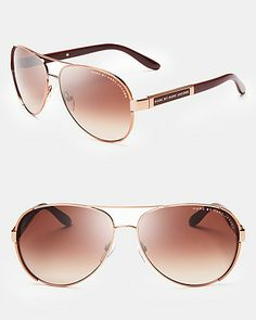 MARC BY MARC JACOBS Aviator Sunglasses | Bloomingdale's