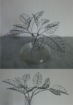 wire leaves- reminds me of a artist in Portland