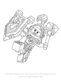 Macy from Lego's Nexo Knights - free printable coloring page