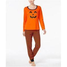 Family Pajamas Women's Pumpkin Pajama Set, Created for Macy's - Orange XXL Halloween Outfits, Halloween Pajamas, Flannel Pajamas, Geile T-shirts, Long Sleeve Pyjamas, Matching Family Outfits, Pajamas Women, Cool T Shirts, Young Adults