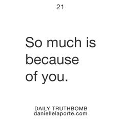 Holy feel good about yourself thought, Batman.  Danielle LaPorte    Truthbomb #21  Get Truthbombs delivered to your inbox daily: http://www.daniellelaporte.com/truthbomb/    #Truthbomb #Words #Inspire #Quotes