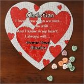 Buy personalized heart puzzles & other romantic gifts great for Valentine's Day.