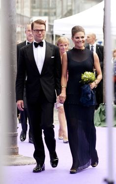 La princesse Victoria et le prince Daniel de Suède arrivent pour la remise du Polar Music Prize 2011, qui a récompensé, le 30 août à Stockholm, Patti Smith et The Kronos Quartet