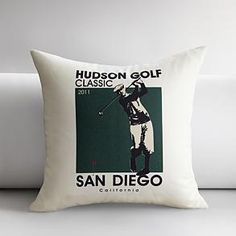 personalized golfer throw pillow cover #redenvelope #fathersday