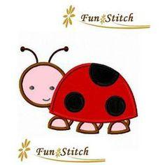 Ladybug applique machine...