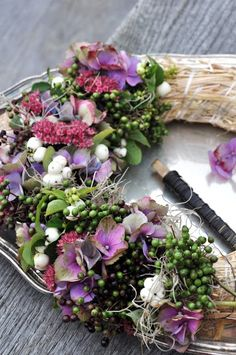 floral wreath beginnings