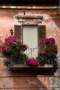 Italian balcony in Lazio