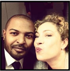 Noel Clarke and Alex Kingston. How cute are they! ^_^