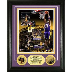 Kobe Bryant Franchise Leading Scorer 24KT Gold Coin Photo Mint Free Shipping