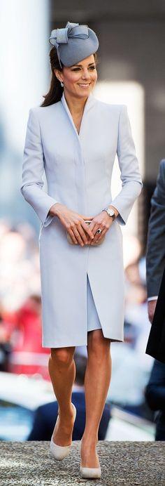 Kate Middleton Donned a Pale Blue Alexander McQueen Coat Dress in Sydney