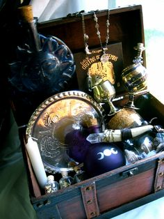 The Magical Trunk-  Large Witch Kit by EireCrescent via Etsy