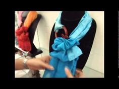 How to tie and wear a Thai silk scarf with our jewelry. scarf1