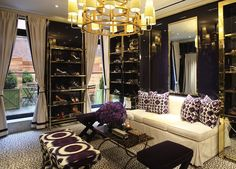 Gaga over this.  Would make a KILLER dressing room.  Tory Burch on Madison Avenue.