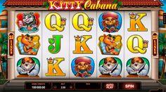 Spielautomat mit Katzem wartet auf dich! Probiere doch das Kitty Cabana Slot von Microgaming frei und geniesse die Zeit!