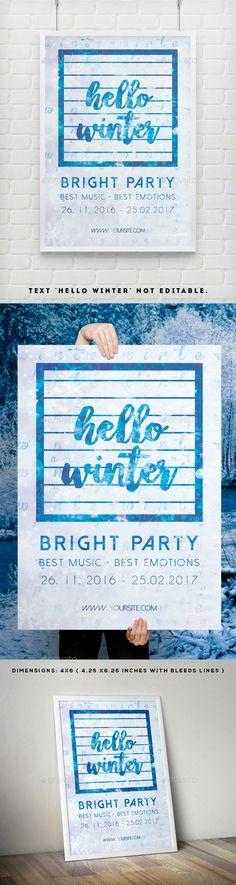 Creative Art Drop Poster Template | Fotokunst, Kreativ und Konzerte