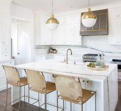 It's a kitchen trend I've seen grow over the past few years. A waterfall countertop is a a great solution to finish off the ends of cabinets while adding a modern, decorative touch. The clean-lined look is something I was drawn to and included in my own kitchen renovation. Originally the second island was suppose …