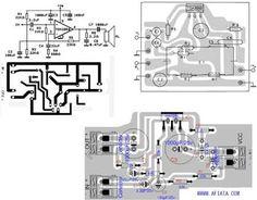 40 watt amplifier transistor TIP142 layout 700x632 tda2030