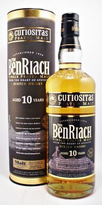 BenRiach Scotch Whisky Peated Curiositas 10 year old  40% 70cl