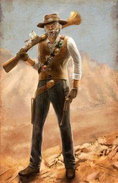 Alchemist gunslinger. Deadlands as all get-out.