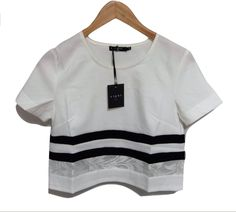 Crop t-shirt - Righe