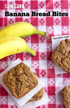 These low carb banana bread bites are quite possibly the most addictive and delicious healthy snack you'll ever make! They're a favorite in the lunch box!