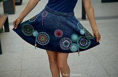 FeltroModa / Maľba na Vašu sukňu Mandaly a Letokruhy I.