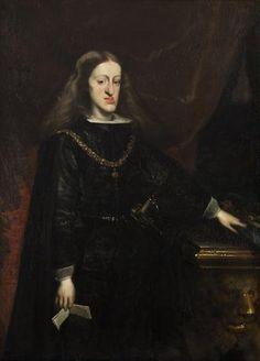 Retrato de Carlos II de España (1661-1700; r. 1665-1700) de Juan Carreño de Miranda (1614-1685)