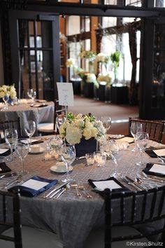 Genevieve Cortese and Jared Padalecki Wedding  Great table setting.  Like the linen, flower arrangement and votive candles.