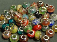 50 piecs lot mixed murano lampwork glass beads fit European bracelets 4 #Unbranded #Lampwork