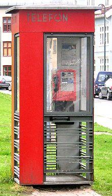 Telefonboks - Wikipedia, den frie encyklopædi