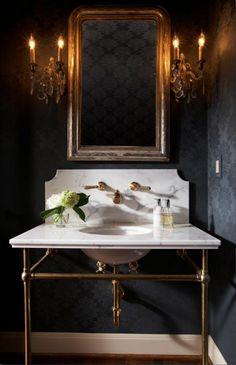 To da loos: Wallmount sink faucet backsplash ideas plus tips for buying wallmount faucets