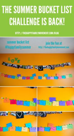 join The Happy Family Movements 2013 Summer Bucket List Challenge!
