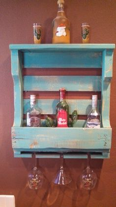 reclaimed pallet wine rack by upCycledreCreations on Etsy, $40.00
