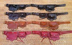 Leather Utility Belt Bag - The Lotus- Hip pockets, Travel purse, Steampunk, Festival Pouch, Burning Man, Fanny Pack, Pocket Belt on Etsy, $84.21 CAD