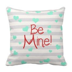Be Mine Bed Pillow With Hearts