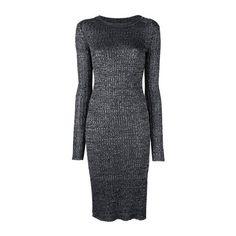 ISABEL MARANT Fitted Knit 'Dakota' Dress (975 BAM) ❤ liked on Polyvore featuring dresses, black, rib knit dress, long sleeve dress, isabel marant dress, fitted dresses and isabel marant