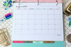 Printable Student Binder   JustAGirlAndHerBlog.com & monthly calendars