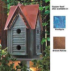 Copper Mansion Bird House