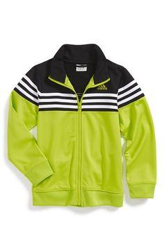 Boy's adidas 'Power Stripe' Tricot Track Jacket