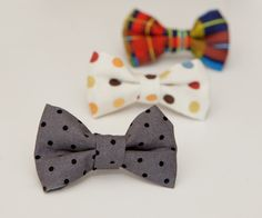 Mommy Minutes: Clip-on Bow Tie Tutorial. I think I'll make a million of these for Eli