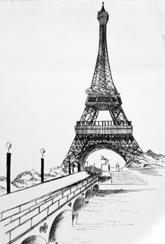 Paris. Black ink.