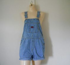 Women Overalls Womens Shortalls Denim Shortalls by TheVilleVintage, $41.99