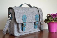 13-inch laptop  bag  felt  leather messenger bag  crossbody