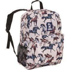 Wildkin Horse Dreams Crackerjack School Backpack ($24) ❤ liked on Polyvore featuring bags, backpacks, kids' backpacks, tan, pocket bag, pink bag, tan bag, pink backpack and knapsack bags