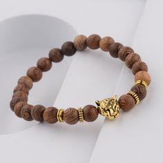 8//10MM ARTIFICIAL AMBER STONE ROUND BEADED BRACELET UNISEX STRETCH BANGLE STRICT
